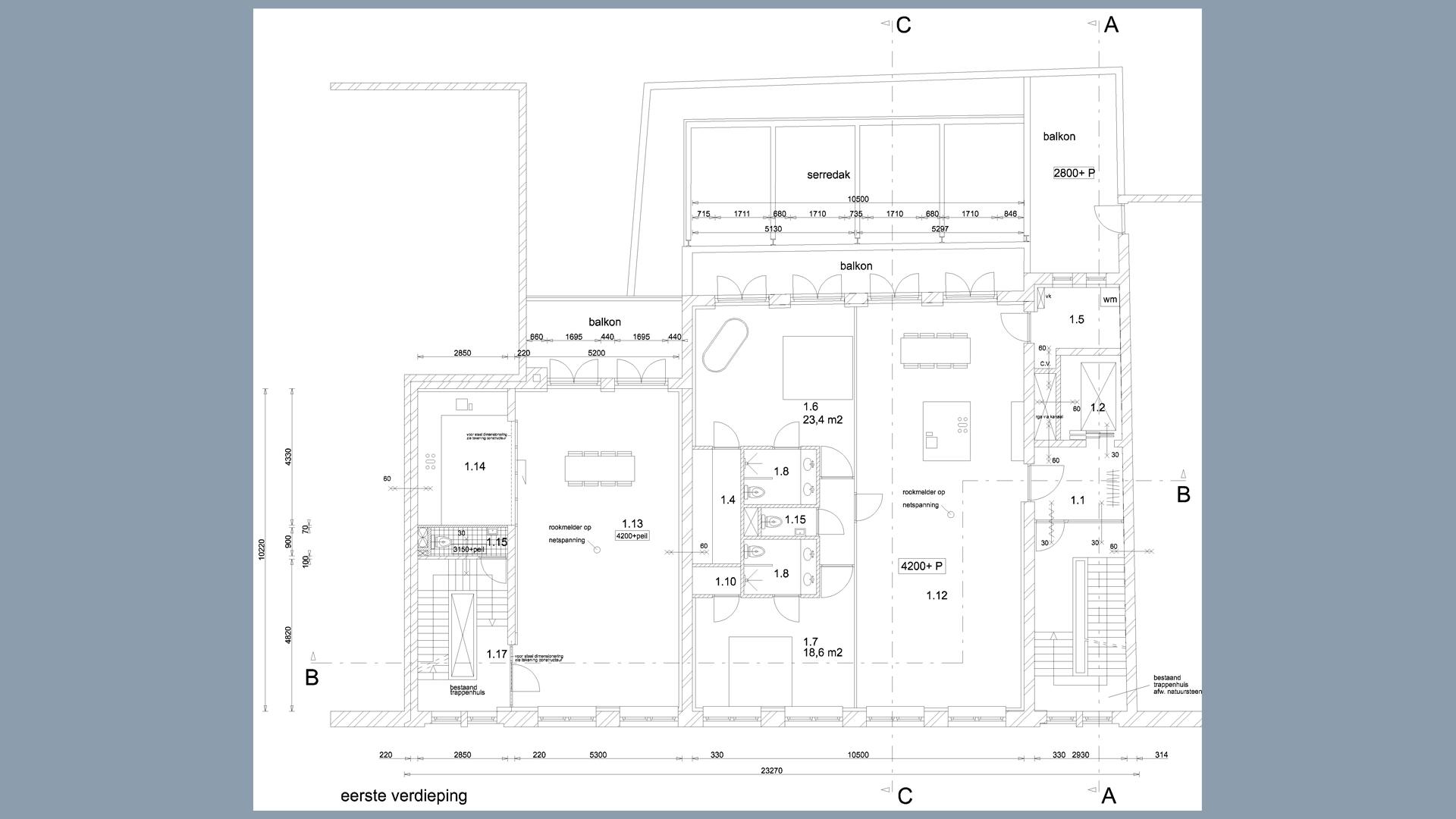 Hooikade plattegrond V1