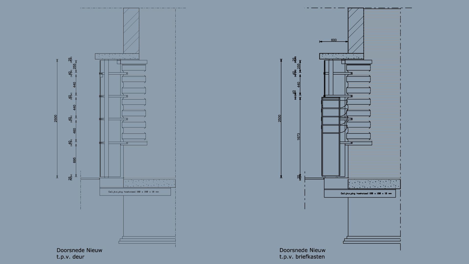 Zonnehoek verticale detaillering